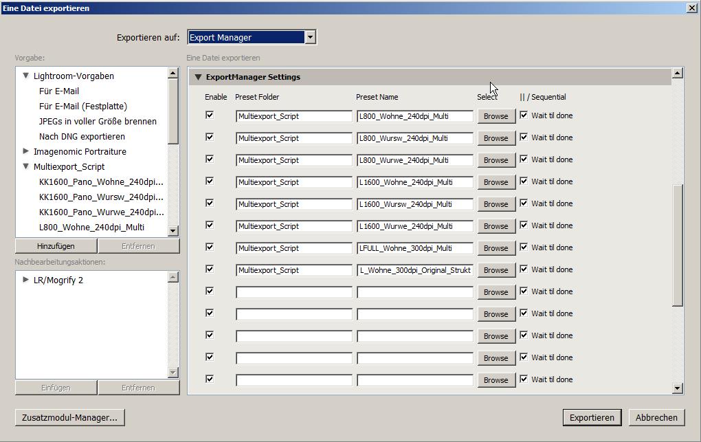 Eine Datei exportieren