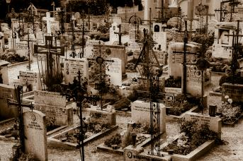Friedhof in Dorf Tirol
