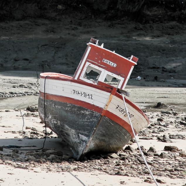 Boot Impression am Conil'er Hafen
