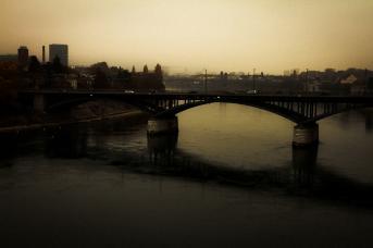 Basel bei schlechtem Wetter