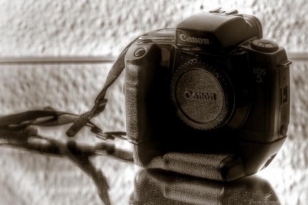 ...my old Canon 5 aus der analogen Zeit