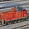 Lokomotive im HDR - surreal
