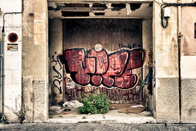 Eine Garage mitten in Palma