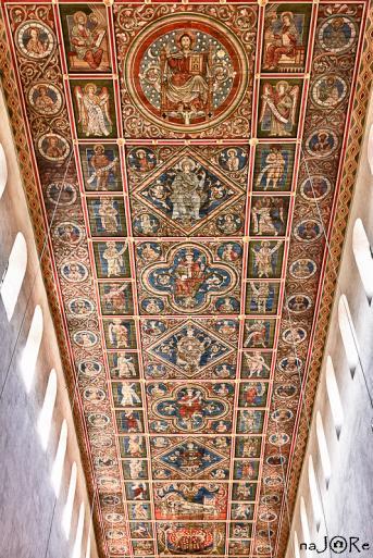 Bemalte Holzdecke der Michaelis Kirche in Hildesheim