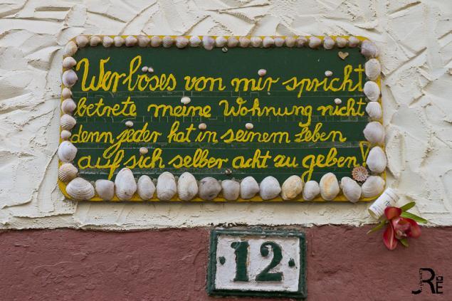 Speyer - Haustür Motto & Fensterknaufe