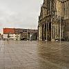 Ulmer Münsterplatz Panorama bei miesem Wetter