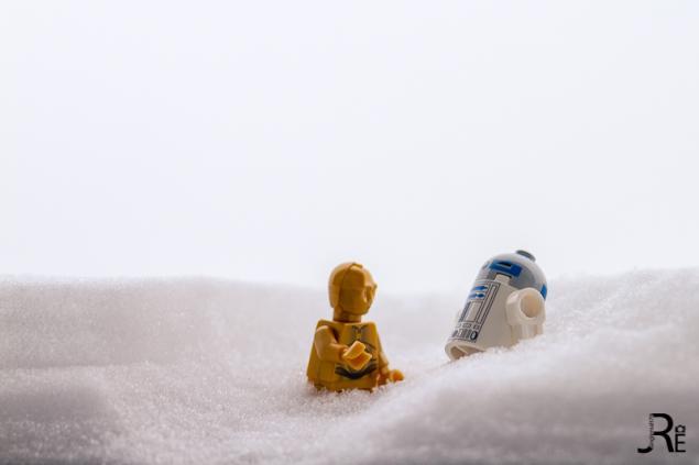 R2D2 und C3P0 auf Hoth
